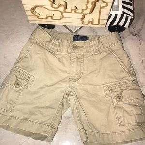 Kids Sz 3T Khaki Cargo Polo Shorts